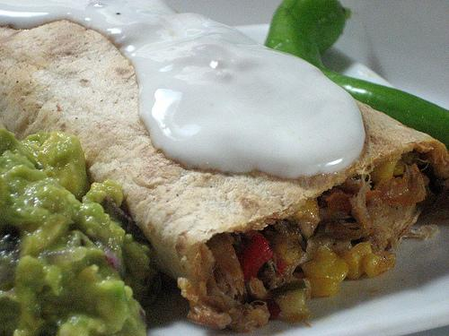 Oven Baked Chicken & Veg Chimichangas