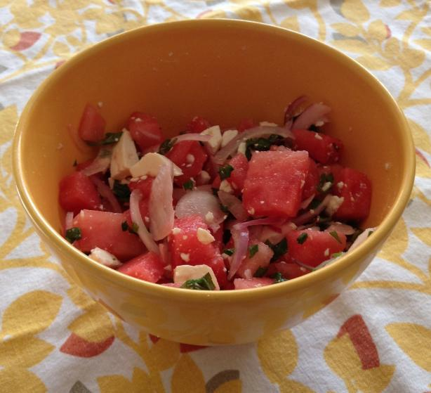 Amazing Watermelon Greek Salad With Feta