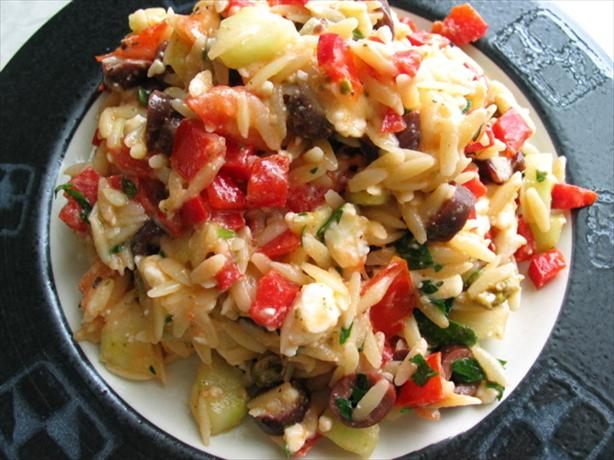 Warm Greek-style Rice Salad
