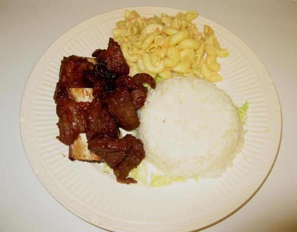 Kalbi BBQ Ribs Hawaiian Style