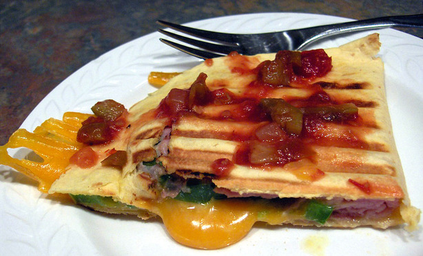 Grilled Ham & Cheese Quesadillas