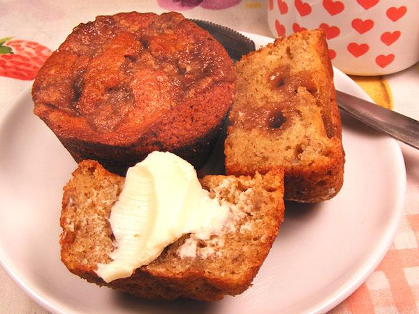 Old Fashioned Banana Muffins