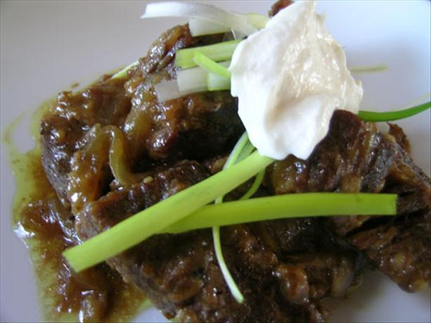 Curry Beef Short Ribs With Horseradish Sauce