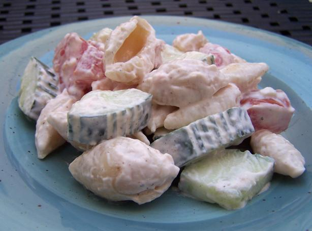 Sandy's Cucumber & Tomato Pasta Salad