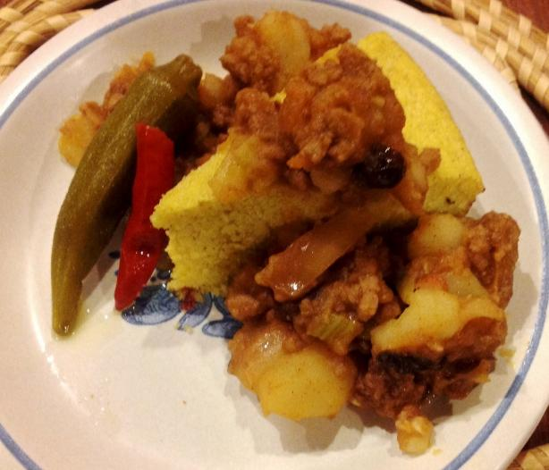 Picadillo (Hash) at the Flores Family's El Charro Cafe