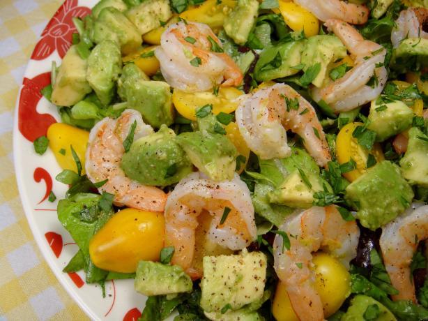 Shrimp, Avocado and Tomato Salad