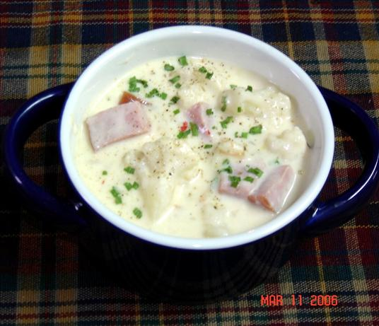 Cauliflower Ham Chowder