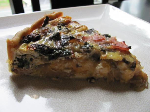 Asparagus Mushroom Bacon Quiche