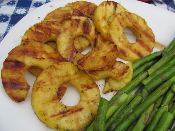 Tequila Orange Glazed Grilled Pineapple