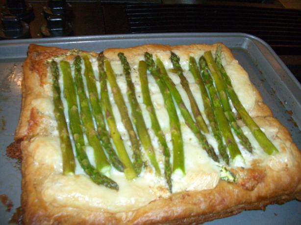 Asparagus and Brie Open Pastry