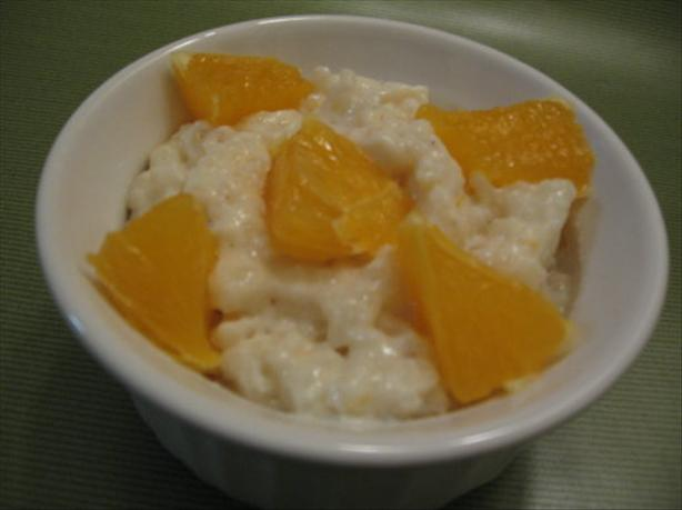 Rice Pudding With Vanilla Bean, Orange and Rum