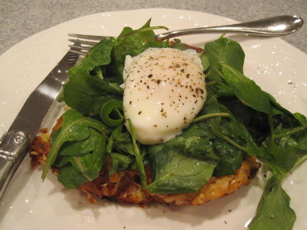 Savory Parmesan Pain Perdu With Poached Eggs and Greens