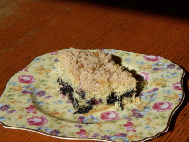 The Absolute Best Moist Buttery Blueberry Coffee Cake