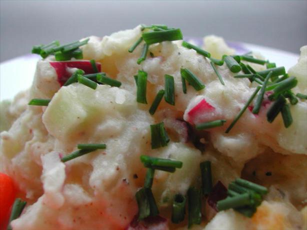 Sour Cream Potato Salad - Kartoffelsalat Med Surfløde