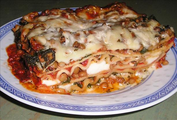 Spinach & Lentil Lasagna