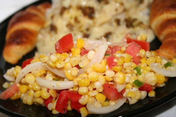 Grilled Corn-Sweet Onion Salad