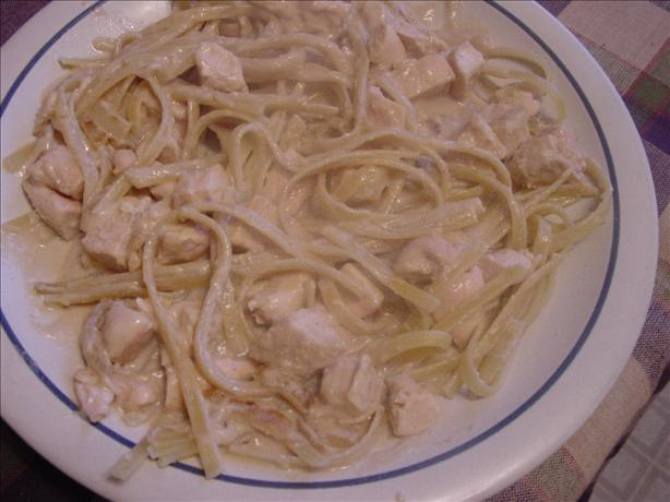 Chicken Fettuccine in Bourbon Sauce