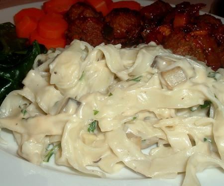 Garlic-mushroom sauce (for pasta)