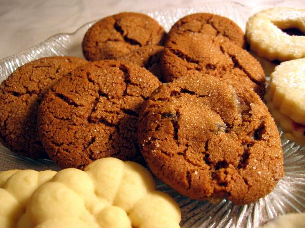 Swedish Ginger Cookies With Crystallized Ginger