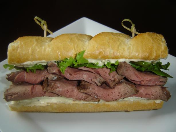 Beef and Horseradish Sauce Sandwich
