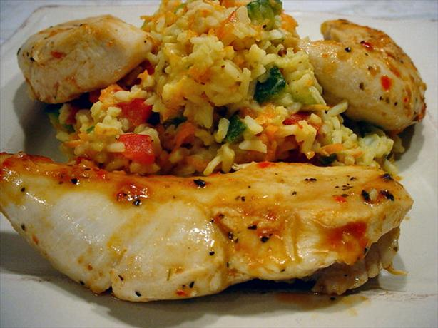 Princess Roasted Red Pepper Chicken With Creamy Risotto