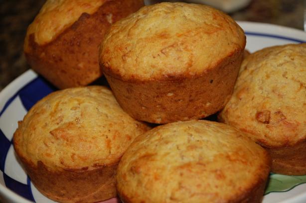 "Pepperoni & Cheddar Corn Muffins in a ""jiffy"""