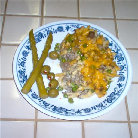 Hamburger and Kd Casserole