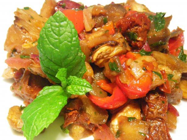 Moroccan Eggplant (Aubergine) Salad