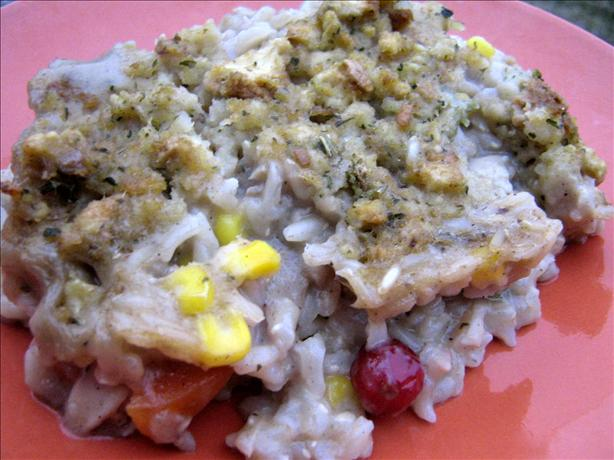 Turkey Pot Pie With Stuffing Crust (Using Leftovers)