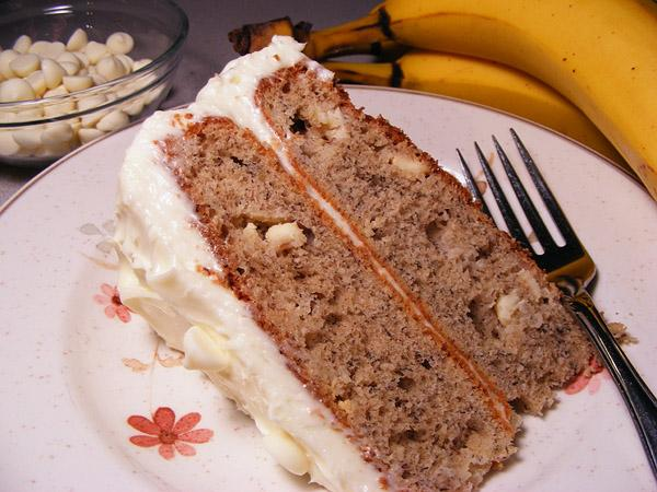 Banana White Chocolate Cake With Icing - Absolutely Decadent