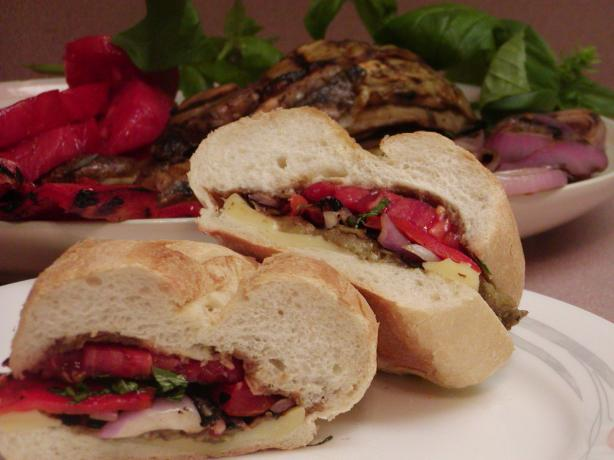 Grilled Veggie and Cheese Sandwich