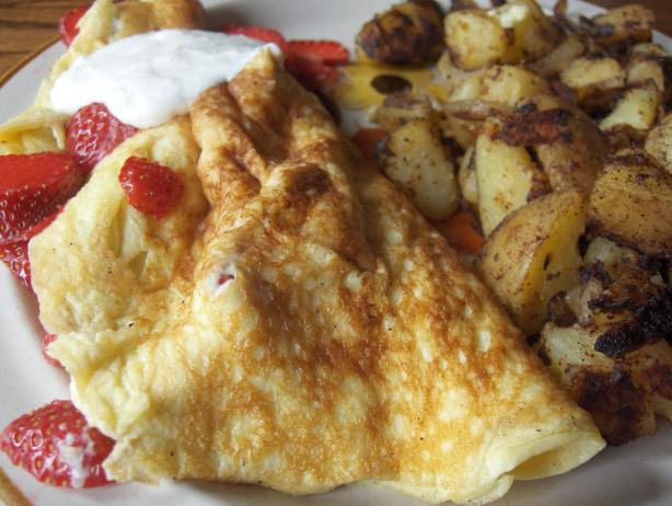 Ww Strawberry Omelet - Omelette Aux Fraises