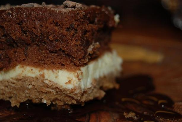 Black and White Layered Brownie Delight