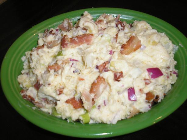 Potato Salad With Mustard Dressing and Bacon