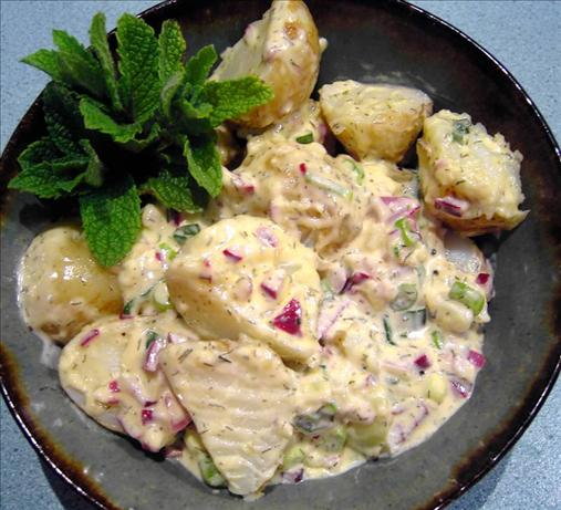 Warm Mustard Potato Salad