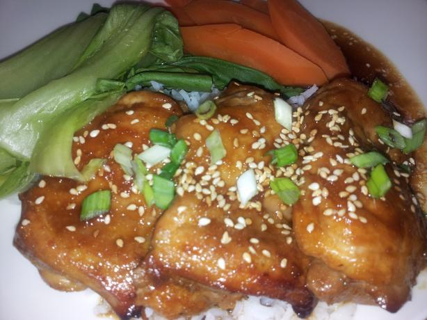 Ginger Scented Honey Hoisin Chicken Thighs With Sesame