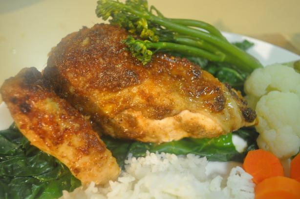 Spiced Chicken With Honey-Ginger Glaze