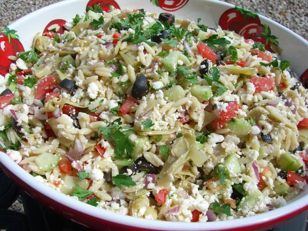 Greek Orzo Artichoke Salad