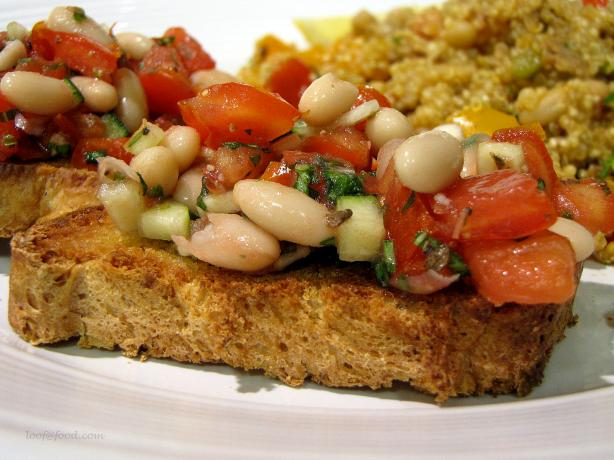 Bruschetta with White Beans, Tomatoes, and Fresh Herbs