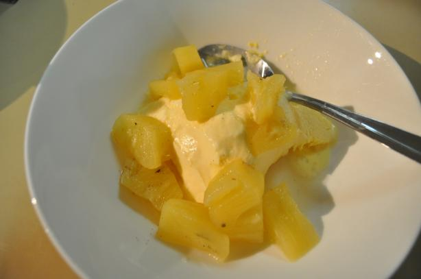 Vanilla-Poached Pineapple Sauce