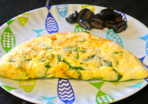 Spinach and Feta Omelet (Ww)