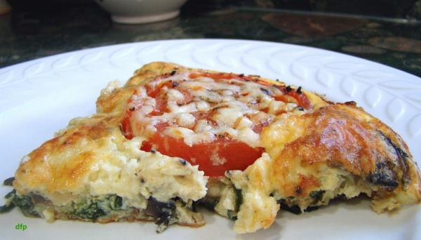 Tomato and Spinach Frittata