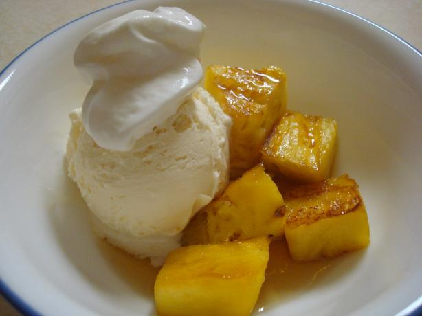 Rum-Infused Grilled Pineapple