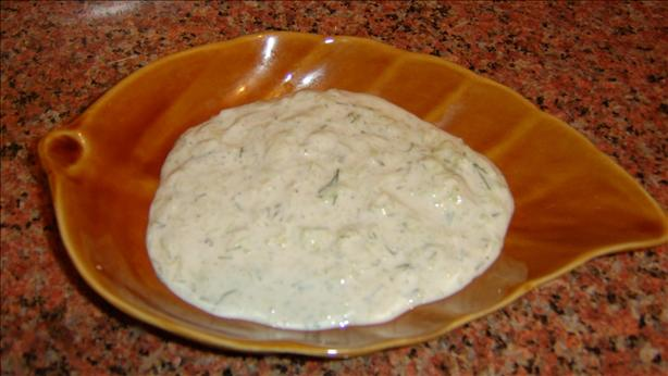 Egyptian Garlic Yogurt Cucumber Salad