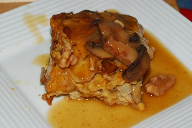 Mushroom Walnut Loaf(Vegetarian Meatloaf) Copycat from the Spot