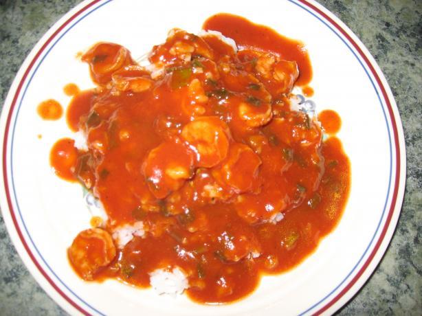Camarones En Salsa / Shrimp in Sauce