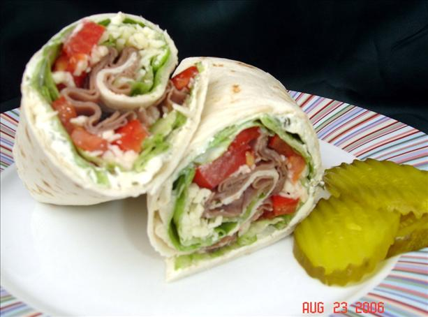 Awesome Angus Roast Beef Wraps