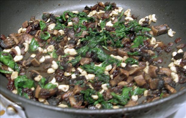 Spinach Cashew Stir Fry