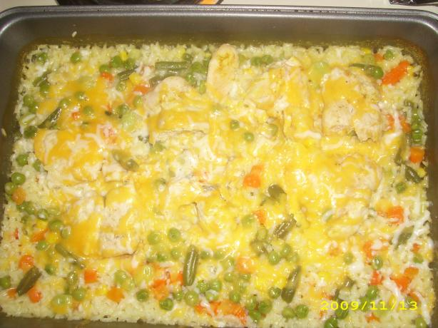 Campbells Cheesy Chicken & Rice Casserole
