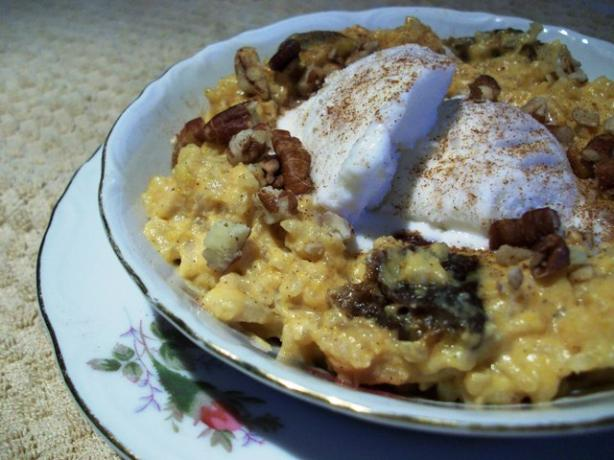 Brown Rice Pumpkin Pudding
